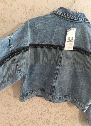 Джинсовка с лампасами джинсова куртка