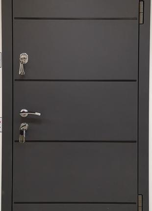Входная металлическая дверь Антрацит серый