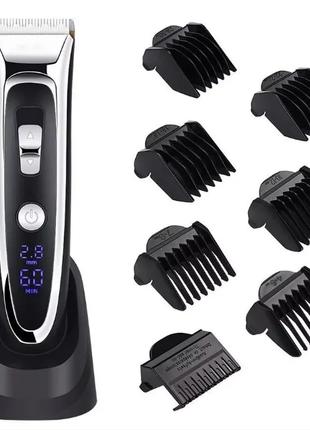Беспроводная профессиональная машинка для стрижки волос и бороды