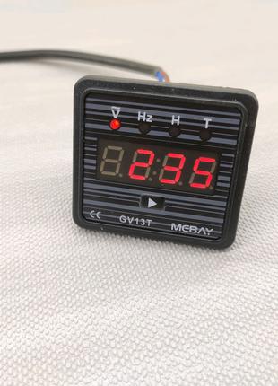 Вольтметр 220 вольт, счётчик моточасов