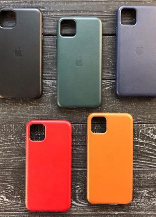 Чехол LEATHER CASE ORIGINAL кожаный айфон iPhone 7 8 xr x s 11...