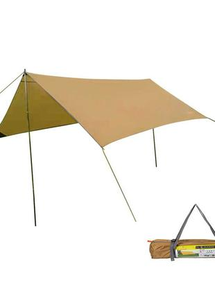 Тент GreenCamp песочный (300х300х200см.)