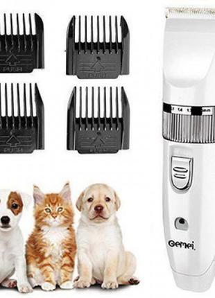 Аккумуляторная машинка Pro Gemei GM-634 для стрижки собак кошек