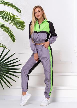 Трендовый костюм с брюками карго