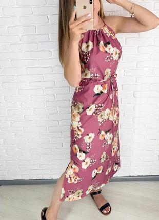 Платье длинное с разрезами