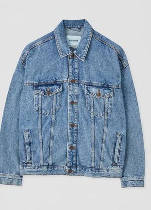 Джинсовая куртка оверсай pull& bear