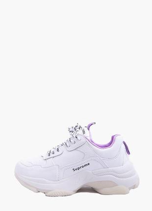 Красиві кросівки жіночі бело-лілові