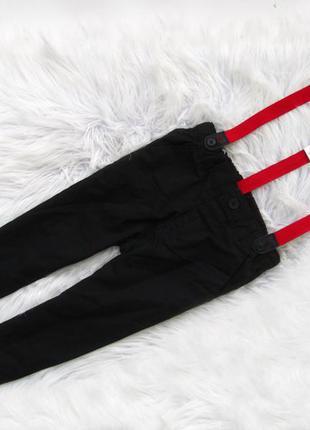 Стильные   штаны брюки на подтяжках disney c&a mickey mouse