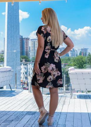 Летнее женское платье больших размеров