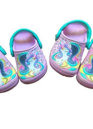 Детские сабо crocs c 5 unicorn сандали босоножки крокс единорог