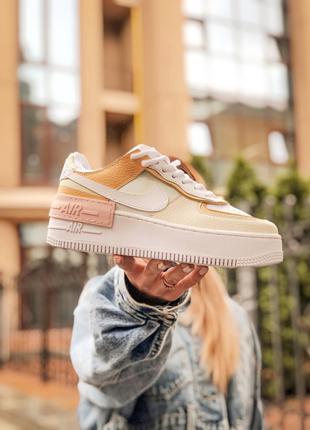 Кроссовки Nike Air force shadow белые