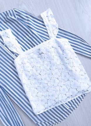 Блуза майка топ кружево