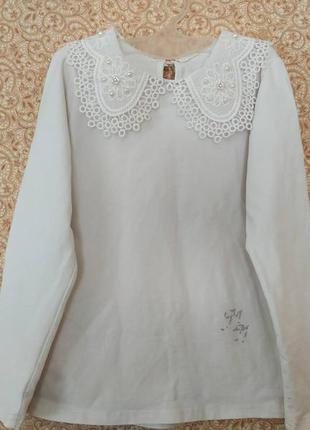 Нарядная блуза свитерок на 7-8 лет