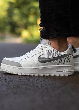 Nike air force шикарные мужские кроссовки найк белого цвета (4...