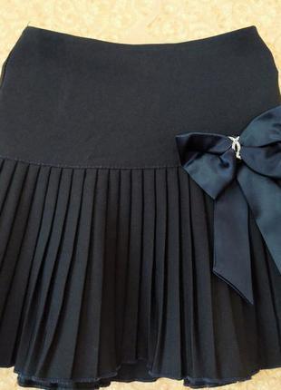 Школьная плессированая юбка на 6-7 лет