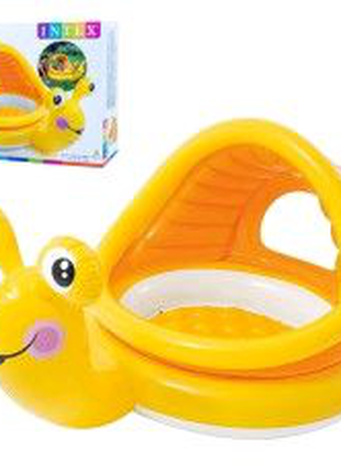 Детский надувной бассейн Улитка с навесом Intex