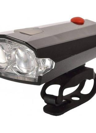 велофара+сигнал(зарядка от USB) Light + Horn фара на велосипед