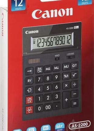 """Калькулятор НОВЫЙ, 12 разрядный, """"Canon AS-2200"""", 198 -140 -34 мм"""