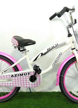 """Велосипед подростковый для девочки Azimut Beach 20"""""""