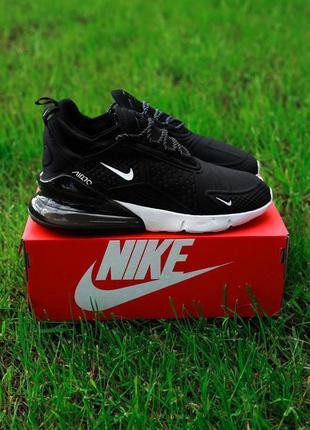 Nike air max 270 шикарные мужские кроссовки найк черного цвета...