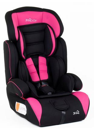 Автокресло-Бустер 5810 от 9-36 кг розово-черное