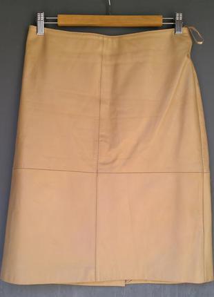 Stefanel юбка натуральная кожа размер 42 prada max mara