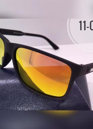 Солнцезащитные очки atmosfera черные матовые  линзы зеркало po...