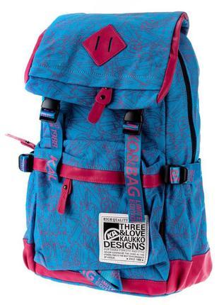Стильный брезентовый рюкзак, качественный женский рюкзак kaukko