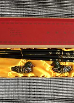 Сувенир из Китая, палочки и уточки, обереги