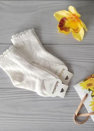 Ажурные носки молочного цвета. турция katamino