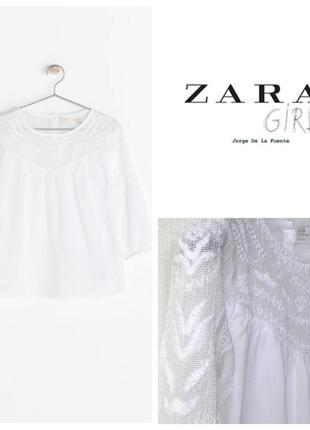 Тонкая блуза zara для девочки 6-7 лет