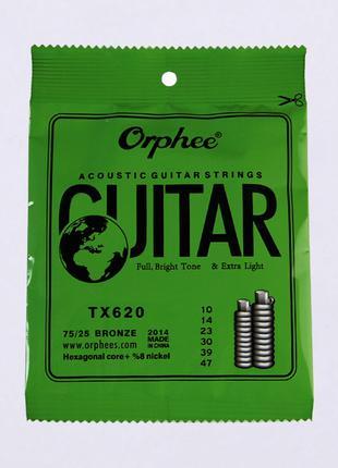 Струны для акустической гитары TX620 75/25 bronze