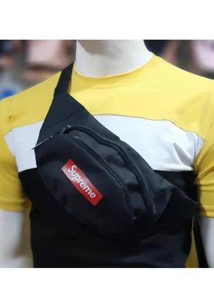 Бананка, сумка на пояс, сумка через плечо Supreme