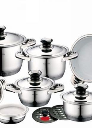 Набор посуды Royalty Line RL-16SC Silver