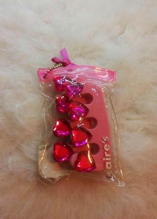 Подарочный яркий розовый набор для педикюра сердечки
