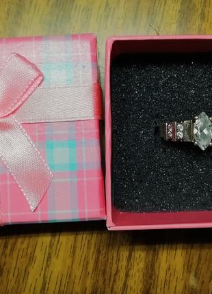Кольцо серебро и золото 18 размер + КОРОБОЧКА В ПОДАРОК