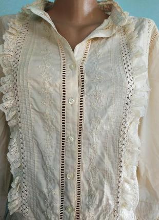 Блуза блузка рубашка с вышитым бисером