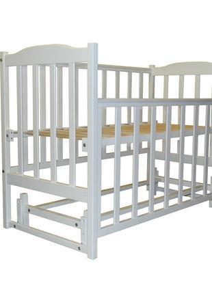 Кроватка для новорожденных с натурального дерева