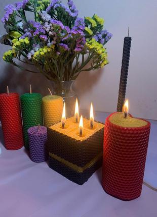 Восковые свечи с эфирными маслами