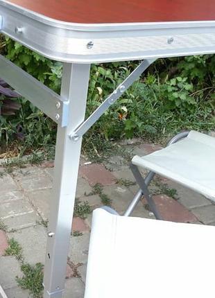 Укрепленный стол для пикника + 4 стула, для сада