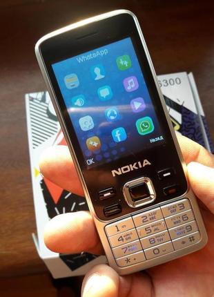 Телефон Nokia 6300 Мобильный Нокиа на 2 сим Металл корпус