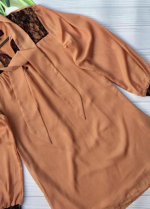 Красивое легкое карамельного цвета платье boohoo