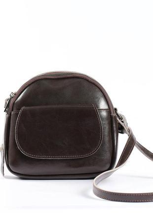 Кожаная сумка шоколадного цвета
