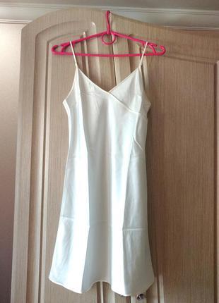 Шелковая ночнушка/комбинация/ночная рубашка жемчужного цвета b...
