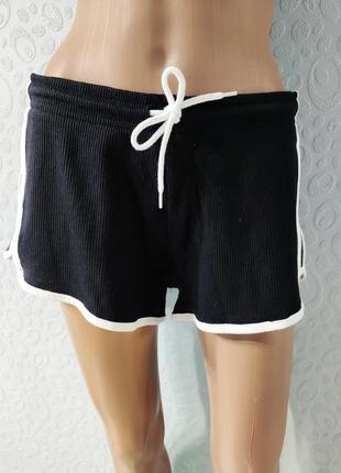 Спортивные женские шорты, короткие шорты с лампасами