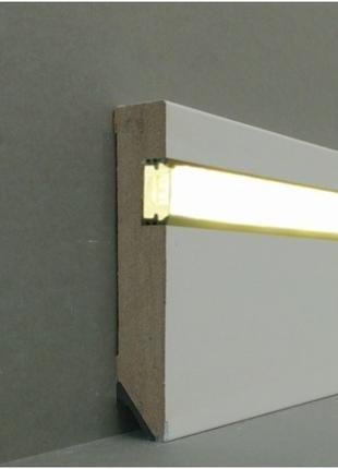 Плинтус с подсветкой LED, монтаж, доставка со склада