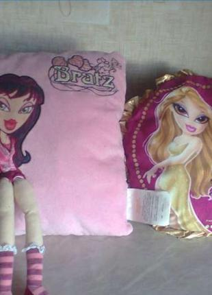 Эксклюзивные подушки с куклами bratz (братц) набором