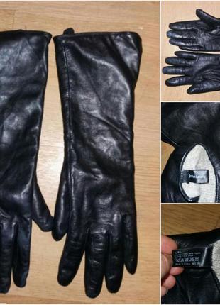 Длинные кожаные перчатки р.8-8,5  john lewis (англия)