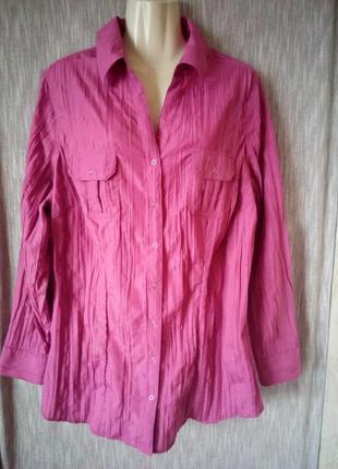 Красивая блузка рубашка canda c&a германия р.24/50