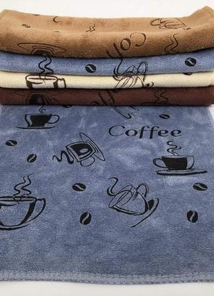Кухонное полотенце микрофибра Coffee